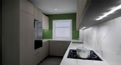 Reforma de una cocina de una vivienda en Oleiros